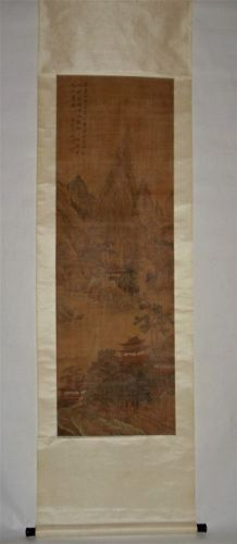 Hanging Scroll of Mountain Villas / Wen Jia (1501-1583), Ming Dynasty