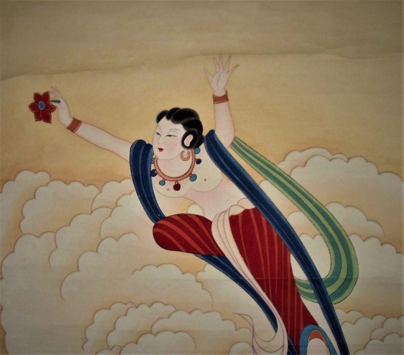 A Flower-Spreading Fairy  / Zhang Daqian (1899-1983)