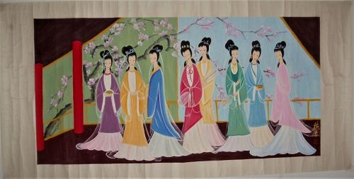 Eight Beauties in Traditional / Lin Fengmian (1900-1991)