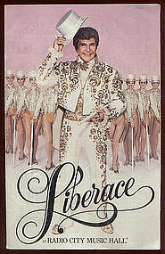 1985 LIBERACE at Radio CityMusic Hall Program
