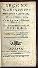 LOCONS Elementaires D'Histoire Naturelle 1794-1795