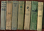 Nine ZANE GREY classic books