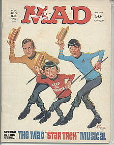 Mad Magazine STAR TREK Oct 1976