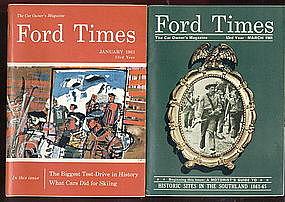 "Seven ""FORD TIMES"" booklets"