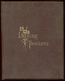"Rare & HTF Poem Book ""LEISURE THOUGHTS"""