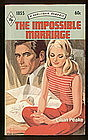 THE IMPOSSIBLE MARRIAGE by Lilian Peake  #1855
