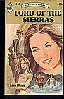 LORD OF THE SIERRAS by Anne Weale #1848