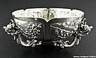 A Fine Antique Chinese Silver Figural Dragon Bowl