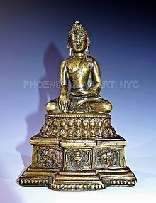 A Rare Early Tibetan Bronze Buddha 13-14th Century