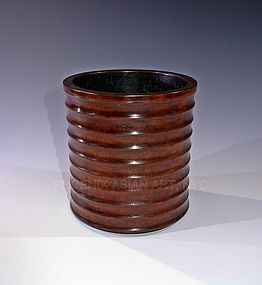 Ming Chinese Huanghuali Brush Pot 16-17th Century