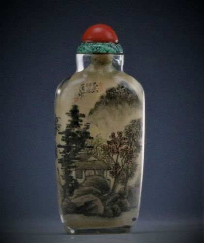 An Antique Inside Painted Rock Crystal Snuff Bottle, 19th Century