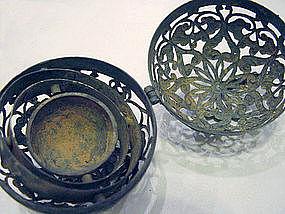 Rare Gild Silver Incense Burner, Tang Dynasty, Chinese