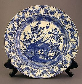 A Large KANGXI Blue/White Plate Three Friends Of Winter