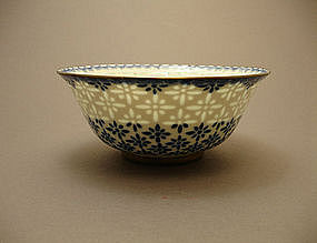 Rice-Grain Pattern LINGLONG Porcelain Bowl QIANLONG Mk