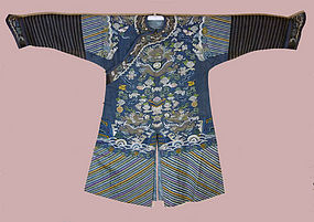 Chinese Silk KESI Dragon Robe late 19th Century
