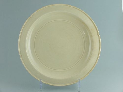A Chinese Ding yao dish from the Northern Song to Jin dynasty