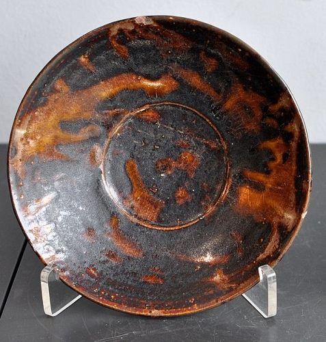 A Chinese Tortoiseshell Jizhou dish, Southern Song dynasty
