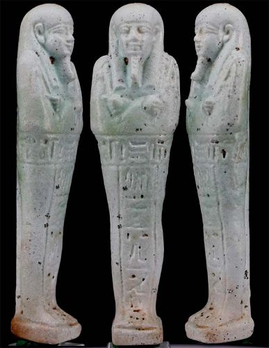 Ushabti for the priest of Smentet Pa-Di-Osiris, born of Irbinat.