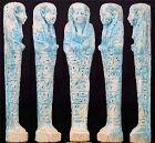 Blue faience Shabti for General Padybastet son of Padyhormedenit