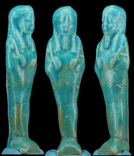Egyptian blue faience Shabti - ca. 11,6 cm ca. 4,50 inches