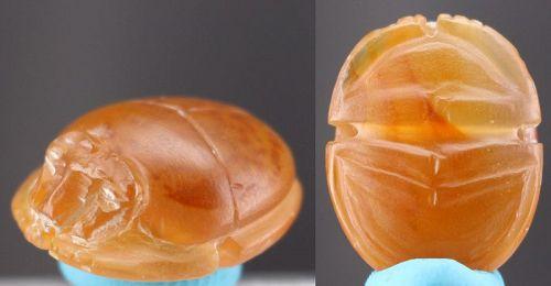 Natural Carnelian Scarab Amulet 2cm