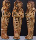 Ancient egyptian fayence shabti for Prince Khaemwaset 13,7cm