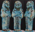 Ancient egyptian shabti of Osiris Hor-Iberna brother of Chons 8,5cm