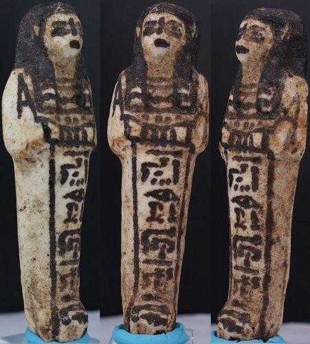 Ancient egyptian faience shabti 11,5cm