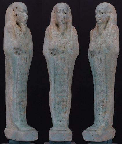 Ancient egyptian Shabti of Pa-scheri-en-Ptah, born by Nes-Mut 12,6 cm.