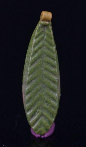 Egyptian Faience Amarna palm leaf Amulet 2,7 cm