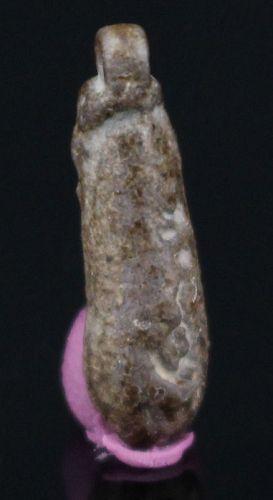 Egyptian Amarna Faience Floral Amulet 1,6 cm