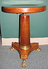 Mahogany Empire Piano Stool, Bronze feet & Ormolu Mount