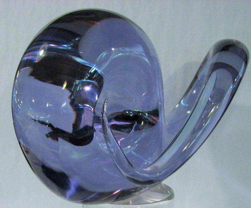 Italian Art Glass Sculpture Signed Seguso, A.B.