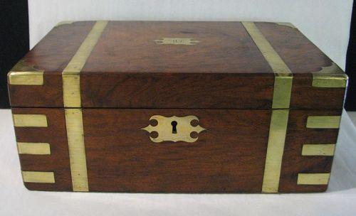 19th Century Brass Mounted Lap Desk
