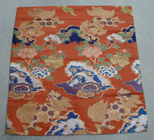 Japanese Alter Cloth, Shishi Lion & Peony, Noh Shakkyo