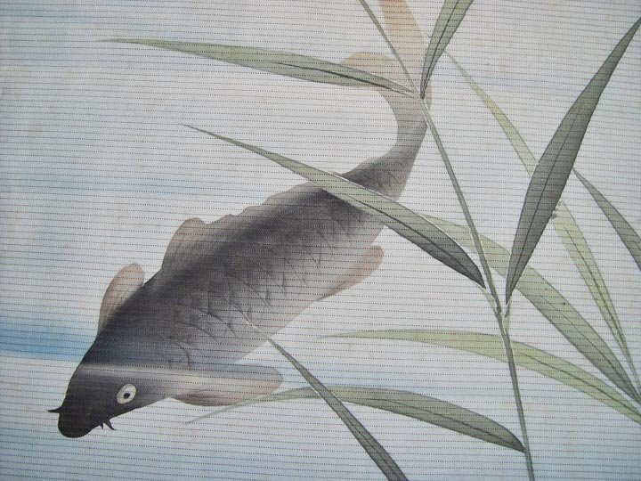 Japanese Fukusa, Carps in Pond, Smaller
