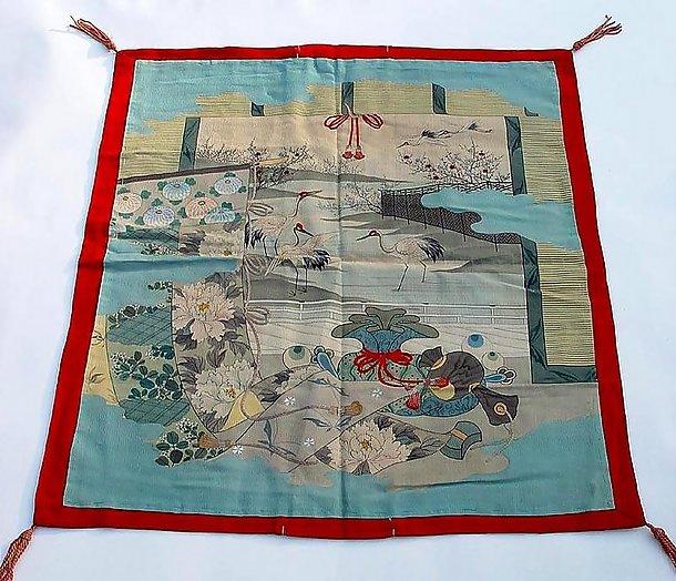 Elegant Old Silk Fukusa, a Gift Cover