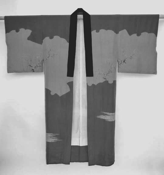 Landscape Art in Men's Silk Juban Kimono