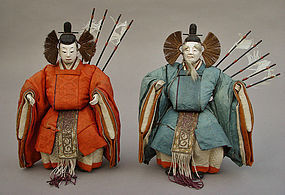 Antique Japanese Hina Dolls, Daijin Ningyo