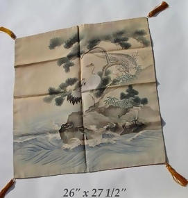 Japanese Fukusa Gift Wrapping and Cover, Cranes