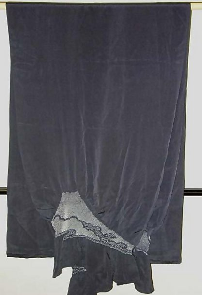 Silk Shawl with Tie-dyed Mt. Fuji Design