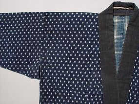 Antique Japanese Kasuri Jacket, Sashiko Stitches #2