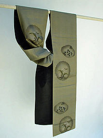 Antique Japanese Silk Obi, Nyogen Chu-ya Obi