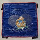 Antique Fukusa, Japanese Gift Cover, Old Man on Turtle