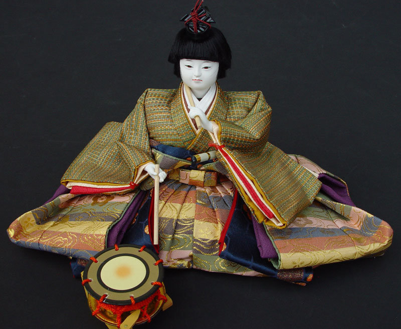 Imperial Court Musicians of Japanese Hina Dolls