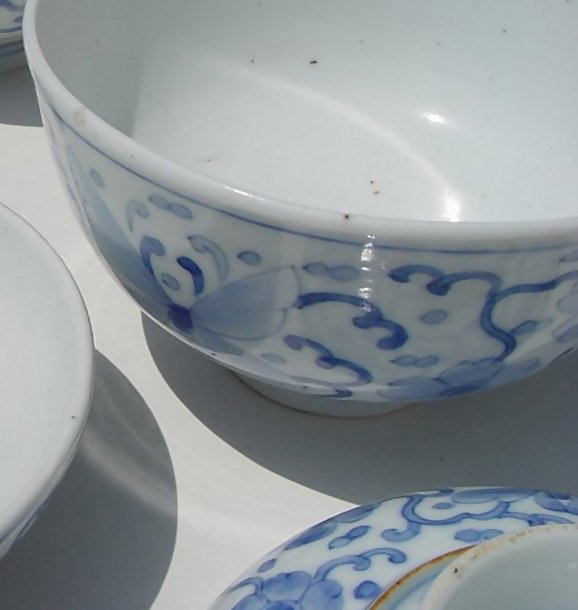 Hirado Blue and White Sometsuke bowls