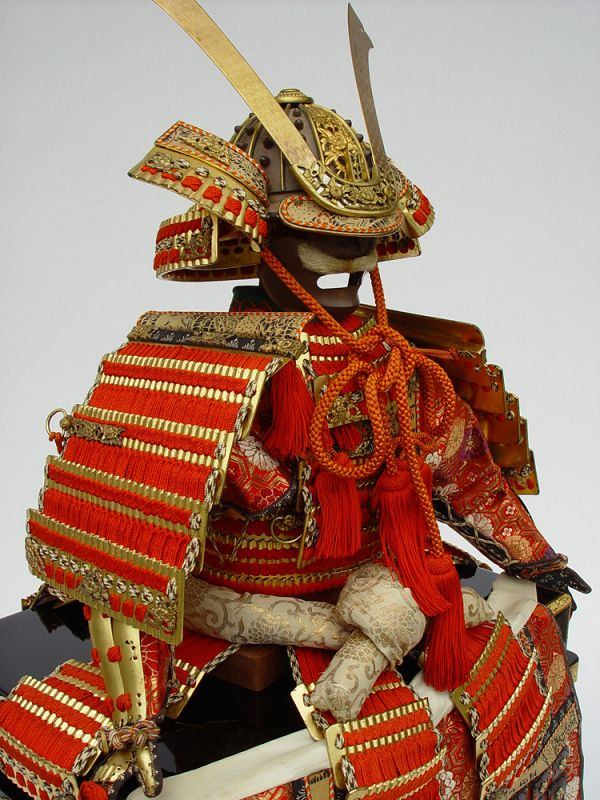 Japanese Armor Yoroi and Kabuto Helmet for Boy's Day,  Kyoto style