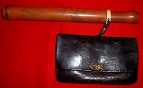 Tobacco Pouch, bamboo pipe case