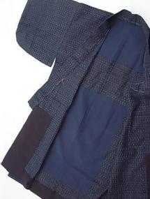Kasuri Japanese Ikat Cotton Kimono #3, kagasuri