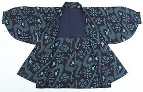 Japanese Kasuri Kimono Jacket